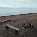 This is a nearly private beach area where you can soak in the beauty of the Lake