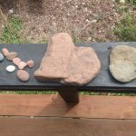 Guests have created a robust rock heart collection over time! :)