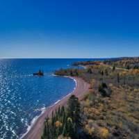 Shoreline looking West