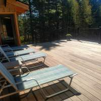 You'll want to step out on to the newly expanded 20 x 26 deck