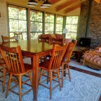 Alternate dining/game area in the screen porch room
