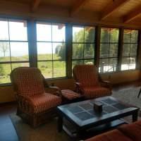 Sitting area facing the Lake